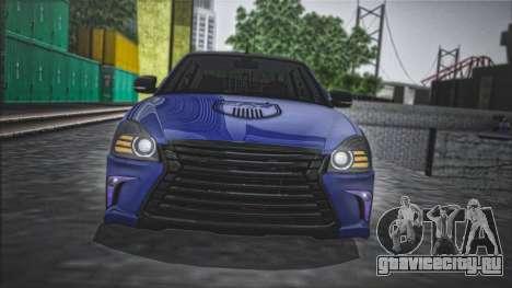 Lada Priora Lexus Amg для GTA San Andreas вид сзади слева