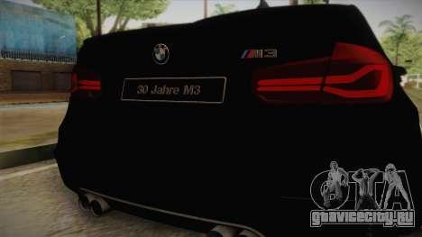 BMW M3 F30 для GTA San Andreas вид справа