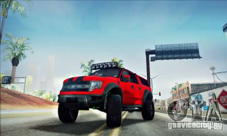 Ford F150 Raptor Long V12 для GTA San Andreas вид сбоку