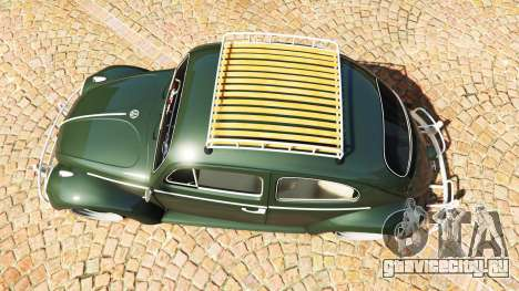 Volkswagen Fusca 1968 v1.0 [replace] для GTA 5 вид сзади