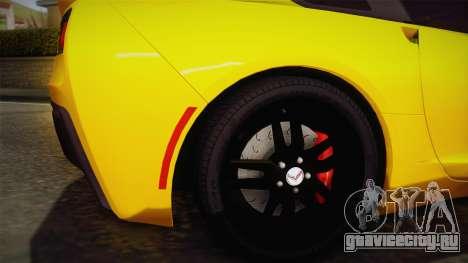 Chevrolet Corvette Stingray 2015 для GTA San Andreas вид сзади