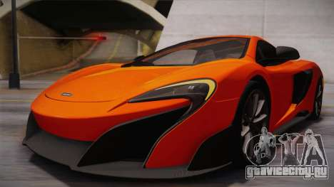 McLaren 675LT 2015 10-Spoke Wheels для GTA San Andreas вид сверху