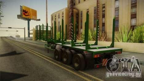МАЗ 99864 Trailer v2 для GTA San Andreas вид сзади слева