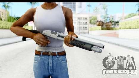 Tactical Mossberg 590A1 Chrome v4 для GTA San Andreas третий скриншот