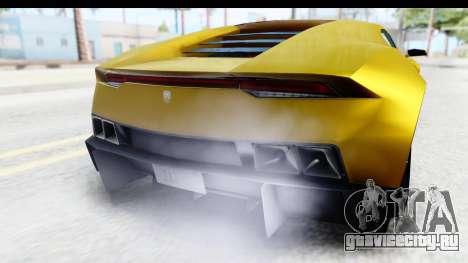 GTA 5 Pegassi Reaper IVF для GTA San Andreas вид изнутри