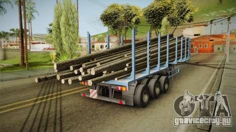 МАЗ 99864 Trailer v1 для GTA San Andreas вид слева