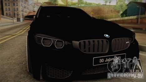 BMW M3 F30 для GTA San Andreas вид сзади слева