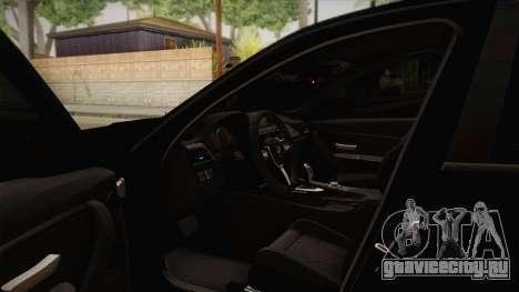 BMW M3 F30 для GTA San Andreas вид изнутри