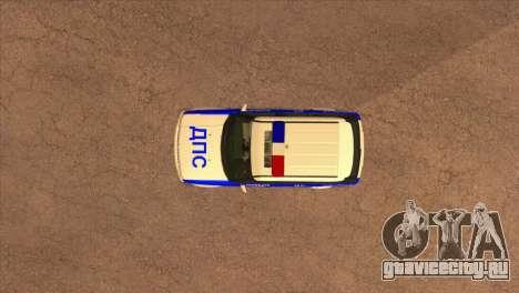 Range Rover Sport ДПС для GTA San Andreas вид сбоку