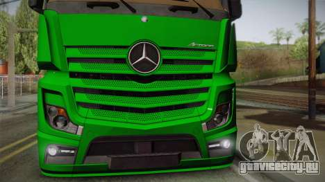 Mercedes-Benz Actros Mp4 4x2 v2.0 Gigaspace для GTA San Andreas вид справа