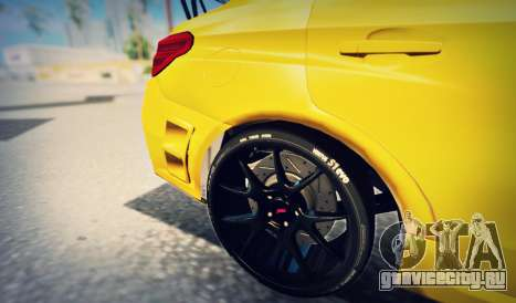 Subaru WRX STI S207 NBR CHALLENGE YELLOW EDITION для GTA San Andreas вид сбоку