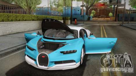 Bugatti Chiron 2017 v2.0 Korean Plate для GTA San Andreas вид сверху