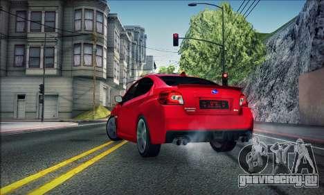 Subaru WRX 2015 для GTA San Andreas вид слева