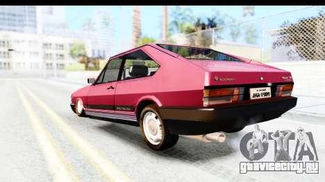 Volkswagen Passat Pointer GTS 1.8 1988 для GTA San Andreas вид слева