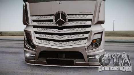 Mercedes-Benz Actros Mp4 6x2 v2.0 Steamspace для GTA San Andreas вид сзади
