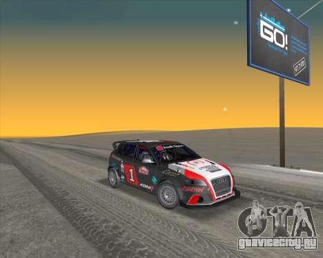 Audi RS3 Sportback Rally WRC для GTA San Andreas вид сбоку