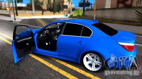 BMW E60 520D M Technique для GTA San Andreas вид сзади