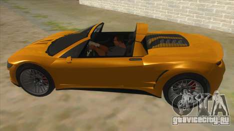 GTA V Dynka Jester Spider для GTA San Andreas вид слева