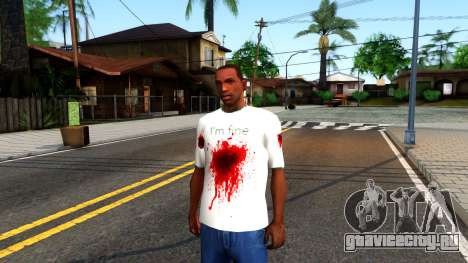 White I am Fine T-Shirt для GTA San Andreas
