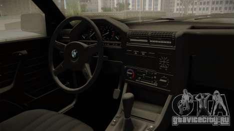 BMW M3 E30 Edit v1.0 для GTA San Andreas вид изнутри