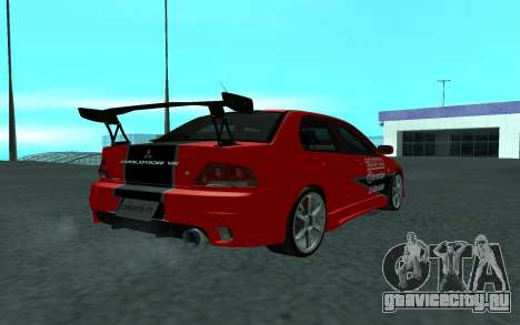 Mitsubishi Lancer Evolution VII для GTA San Andreas вид слева