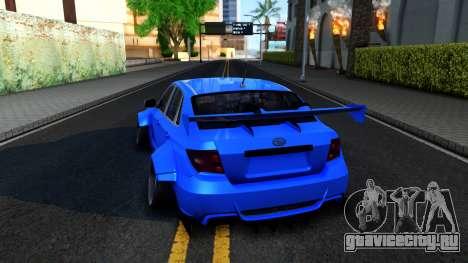Subaru WRX STi Widebody для GTA San Andreas вид сзади слева