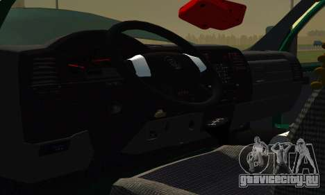 Газель Фермер v2 для GTA San Andreas вид изнутри