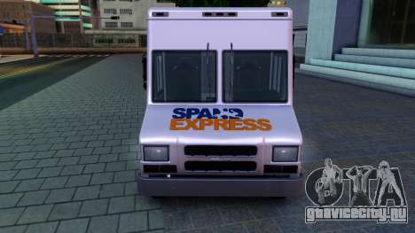 GTA IV Brute Boxville with SpandEx livery для GTA San Andreas вид слева
