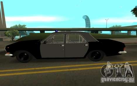 ГАЗ 24-10 Шериф для GTA San Andreas вид слева