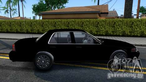 Ford Crown Victoria OHSP Unmarked 2010 для GTA San Andreas вид сзади слева