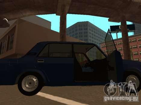 ВАЗ 2107 (Проект из жизни Жига Против Всех) для GTA San Andreas вид слева