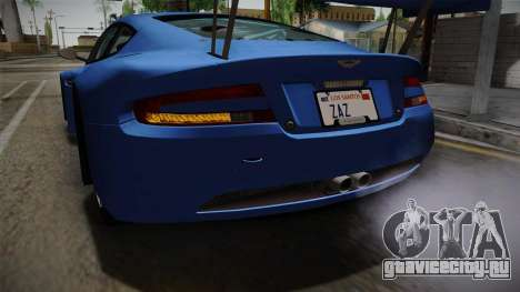 Aston Martin Racing DBRS9 GT3 2006 v1.0.6 для GTA San Andreas вид снизу