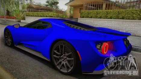 Ford GT 2017 для GTA San Andreas вид слева