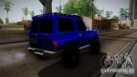Toyota Macho 2015 Off Road для GTA San Andreas вид сзади слева