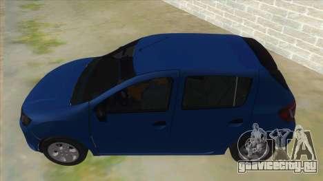 2016 Dacia Sandero для GTA San Andreas вид слева