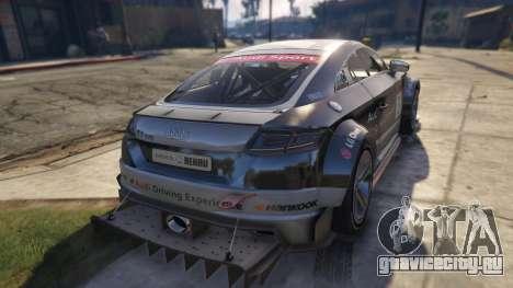 Audi TT cup 2015 для GTA 5 вид сзади слева