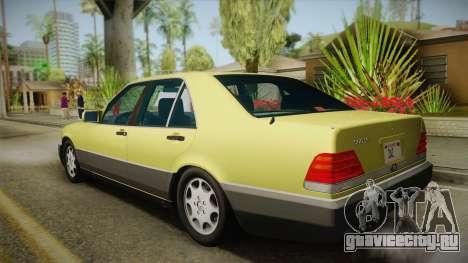 Mercedes-Benz 500SE 1991 v1.1 для GTA San Andreas вид слева
