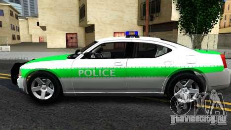 Dodge Charger German Police 2008 для GTA San Andreas вид слева