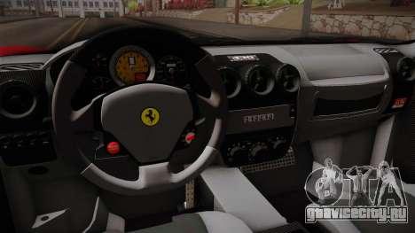 Ferrari F430 для GTA San Andreas вид изнутри
