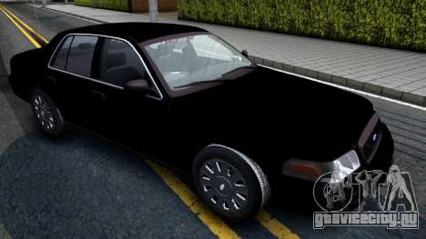 Ford Crown Victoria OHSP Unmarked 2010 для GTA San Andreas вид справа
