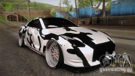 Nissan GT-R R35 2015 для GTA San Andreas салон