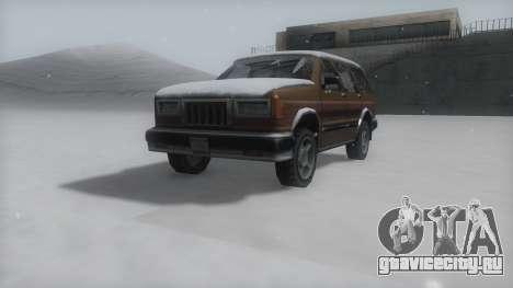 Landstalker Winter IVF для GTA San Andreas вид справа