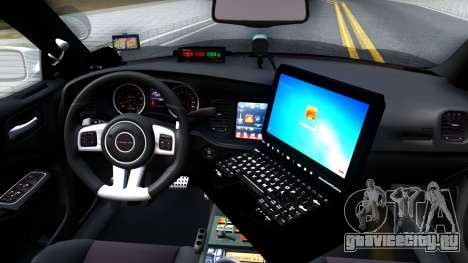 Dodge Charger Rittman Ohio Police 2013 для GTA San Andreas вид изнутри