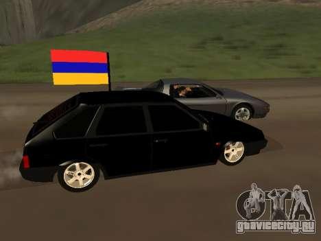 VAZ 2109 Armenian для GTA San Andreas вид слева