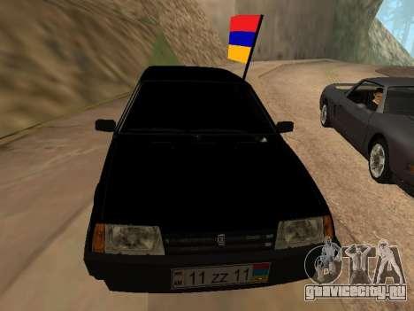 VAZ 2109 Armenian для GTA San Andreas вид сзади