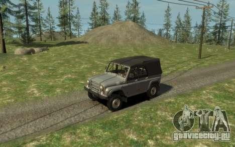 УАЗ 469 (Paul Black prod.) для GTA 4 вид сзади