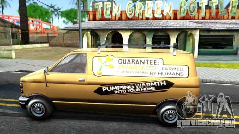 GTA V Declasse Burrito Commercial для GTA San Andreas вид слева