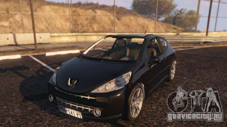 Peugeot 207 для GTA 5 вид сзади