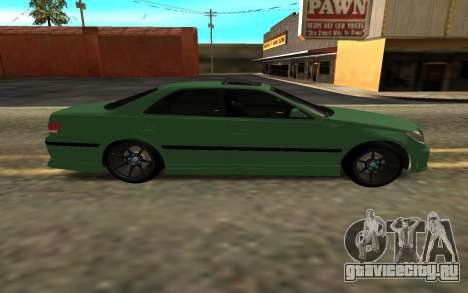 Mercedes C63 Toyota Mark 2 JZX 100 для GTA San Andreas вид сзади слева