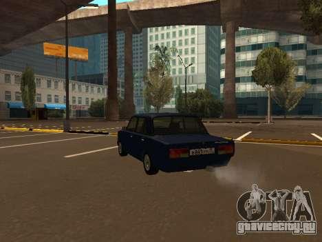 ВАЗ 2107 (Проект из жизни Жига Против Всех) для GTA San Andreas вид сзади слева